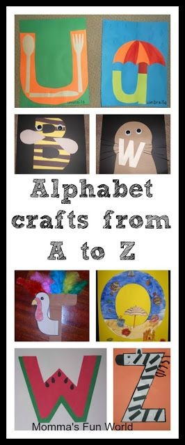 Alphabet crafts for each letter