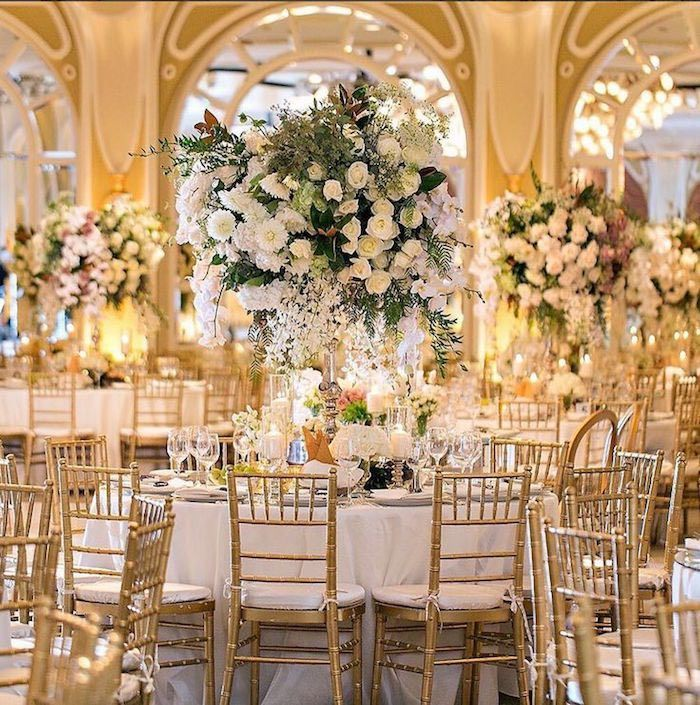 17 Best ideas about Extravagant Wedding Decor on Pinterest | Winter table  centerpieces, Tree centrepiece wedding and White special dinner sets