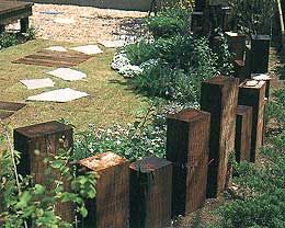 Australian railway sleeper landscaping 16