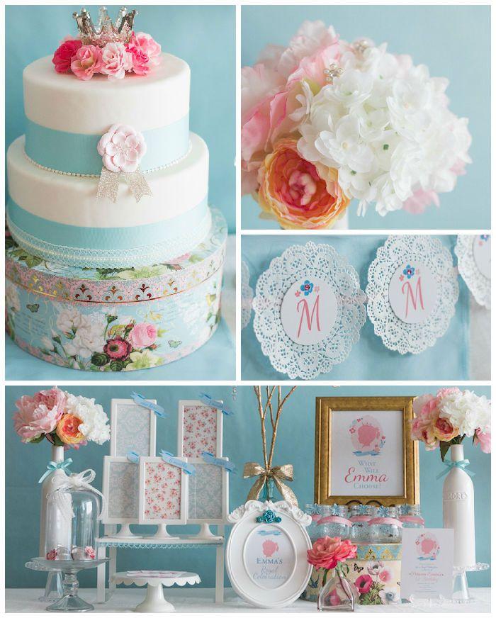 Kara S Party Ideas Royal Princess First Birthday Party: Silhouette Royal Princess Birthday Party Via Kara's Party