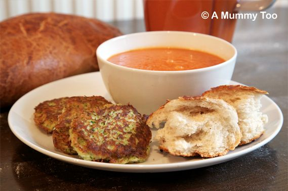 tom soup and corguette latkes via @amummytooDairy Free Recipe