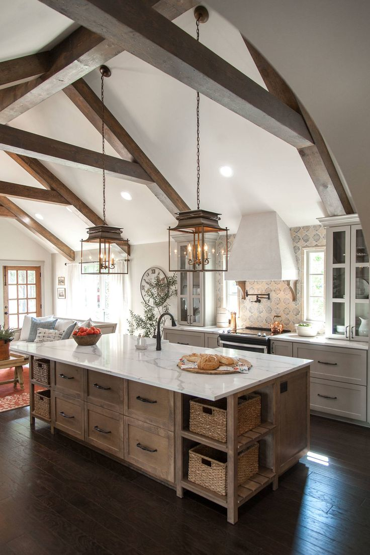 Modern Rustic Farmhouse Kitchen 825 Best Kitchenloveimages On Pinterest  Kitchen Dream