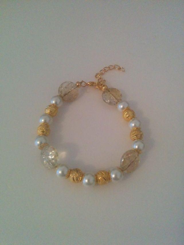 White & Gold Bracelet £5.99