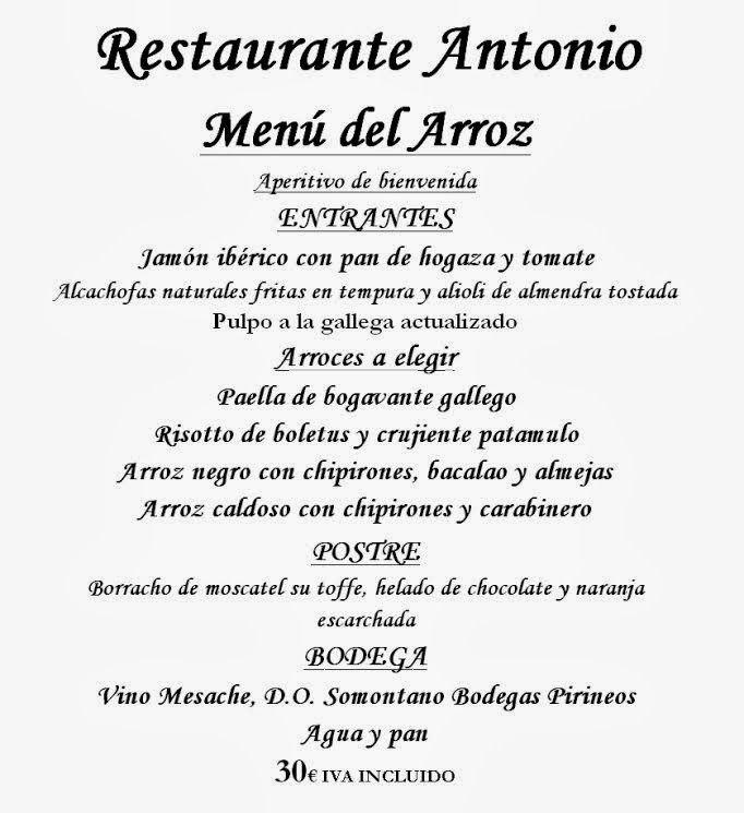 GASTRONOMÍA EN ZARAGOZA: Restaurante Antonio continúa en Marzo con Las Jorn...