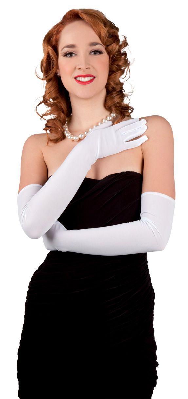 Gants longs blancs adulte : Deguise-toi, achat de Accessoires