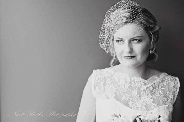 instead of veil Newcastle wedding photographer Nicole butler Photography