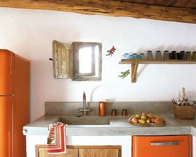 An Orange Kitchen