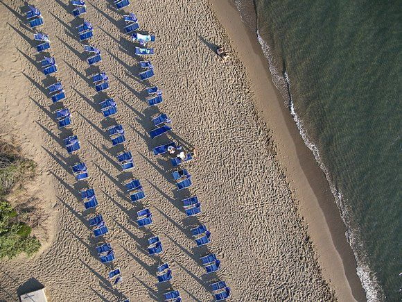 Tuscany beach Riva del Sole spiaggia Castiglione della Pescaia in Maremma.