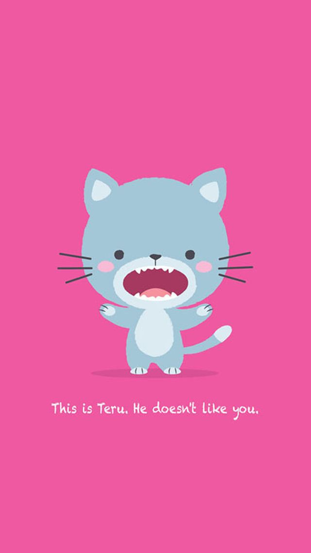 RAWR! Cute cartoon iPhone wallpapers. Tap to check out ...