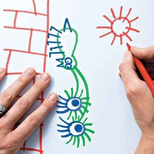 Tag-Team Drawing | 20 After-School Activities That Are Actually Fun