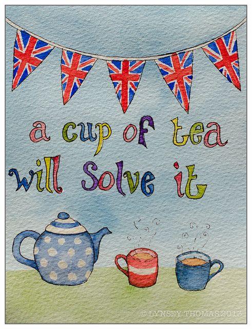 Tea quote - illustration. Downton Abbey Tea