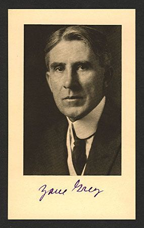 Zane Grey Autographed Photo