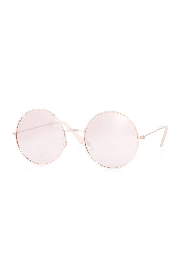 Primark - Óculos de sol redondos cor-de-rosa