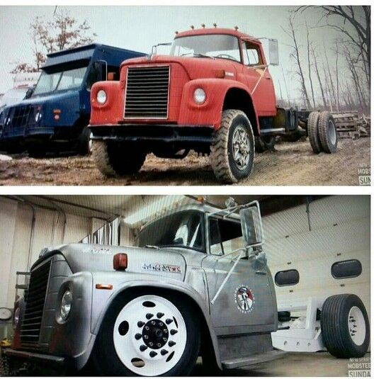 Big Rig Rod : Mack truck rod before and after wheels pinterest
