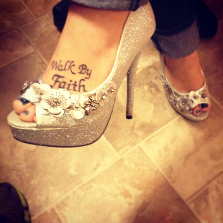 Starting the New Year right! Sparkly High Heels!! #tattoo #cinderellashoes