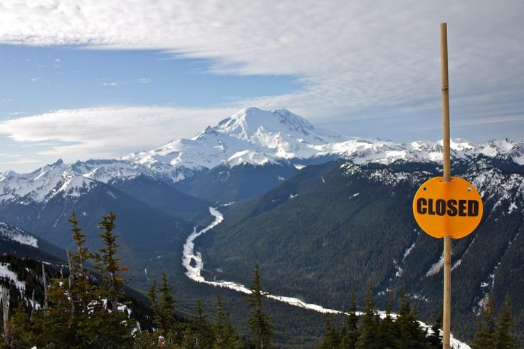 Mt. Rainier as seen from Crystal Mountain ski resort.