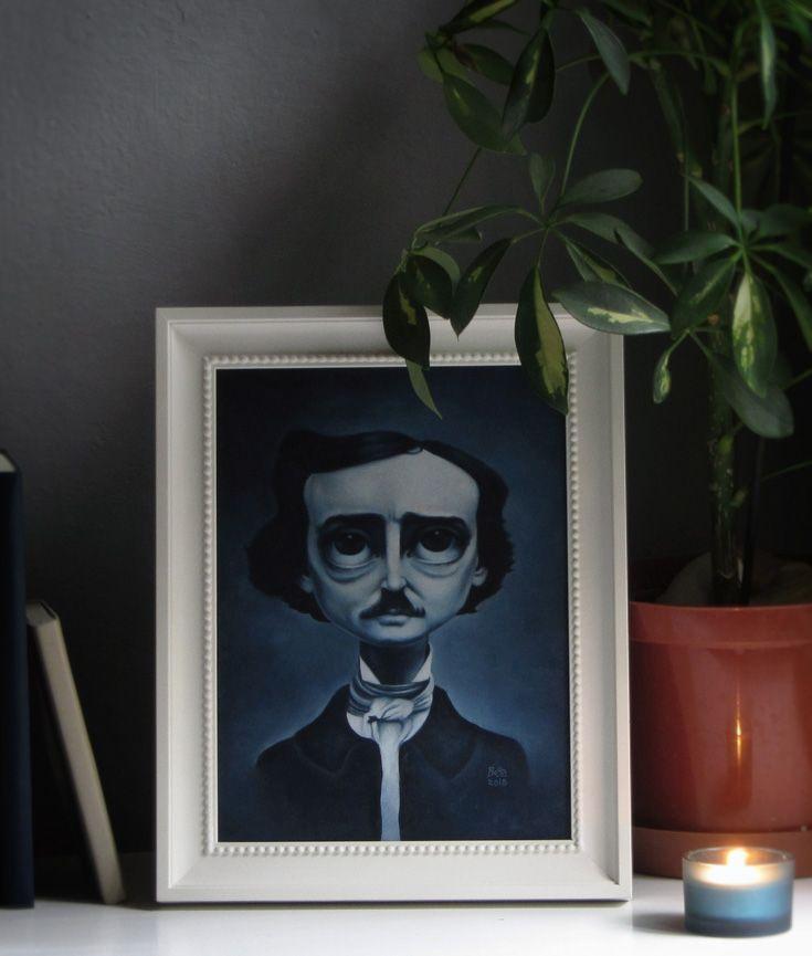 BodaSzilvia: Poe portrait oil painting process