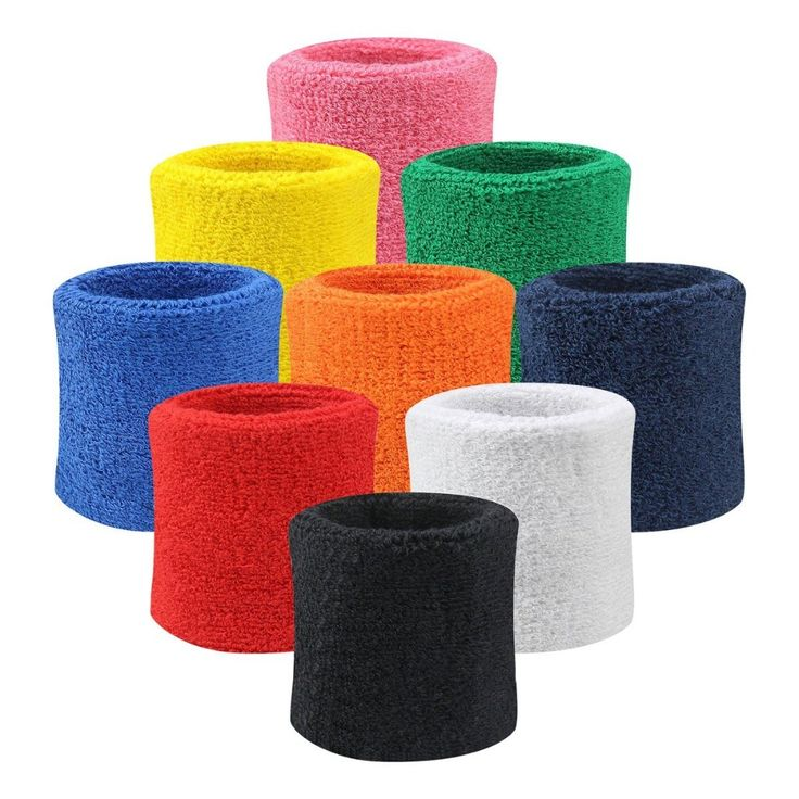 Sports Wristband Men Women Cotton Sweat Bands Terry Cloth Sweatband for Badminton Tennis Basketball Squash Gym Yoga Wrist Brace #women, #men, #hats, #watches, #belts