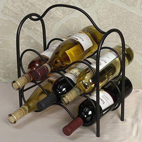J&J Wire Wine Rack, Holds Six Bottles, 2015 Amazon Top Rated Wine Racks #Lawn&Patio