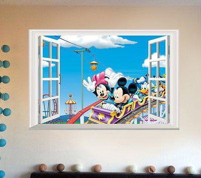 Микки Маус Девушки Парни Подарок Наклейки Виниловые Детская Комната Съемный Наклейка Искусство Декор