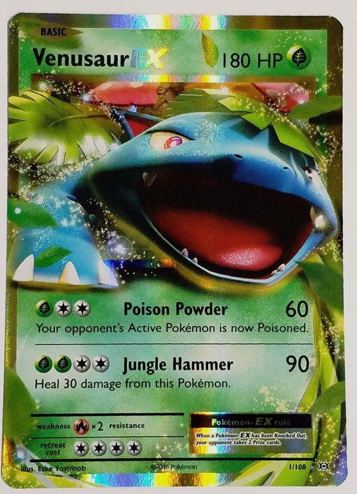 Pokemon VENUSAUR EX 1/108 ULTRA RARE HOLO XY Evolutions TCG HOT CARD NM FRESH!