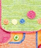 close-up of kct0025 crochet baby bib