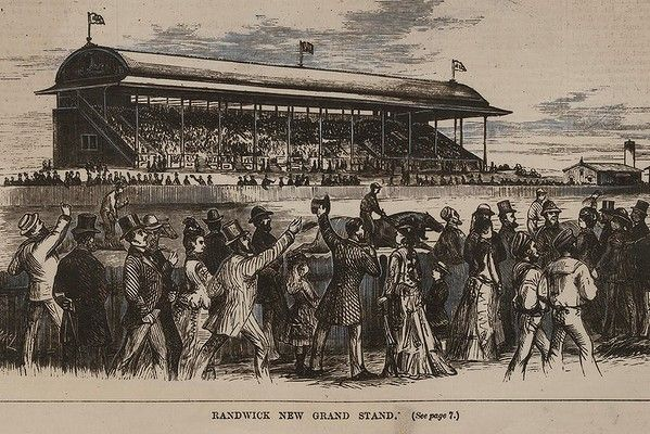 Randwick racecourse in 1879, 16 years after its official opening.
