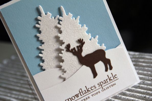 Christmas card using products from Papertrey Ink.
