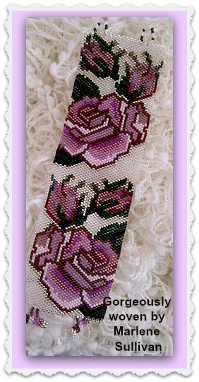 """Sold and Re-Listed: """"Sterling Silver Roses"""" - Even Count Peyote Stitch Bracelet Pattern. Please follow this link for direct download: https://www.etsy.com/listing/158536019/bp-flo-065-sterling-silver-roses-even?ref=shop_home_active_8"""