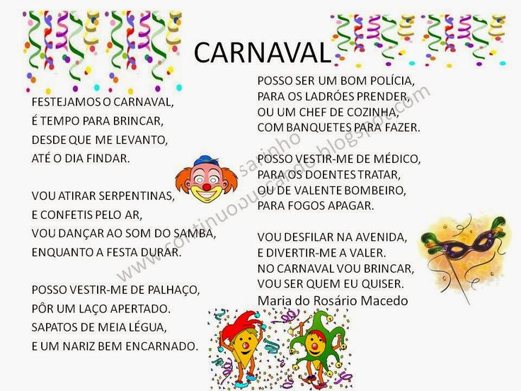 Continuo buscando...: Carnaval, poesia