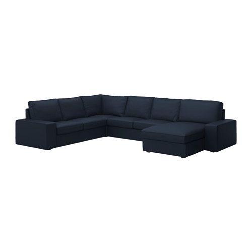 KIVIK Loveseat with chaise - Orrsta dark blue - IKEA