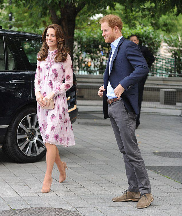 Prince Harry grinned as he arrived at County Hall with his sister-in-law Kate to attends the World Mental Health Day celebration with Heads Together at the London Eye on October 10, 2016 in London, England.