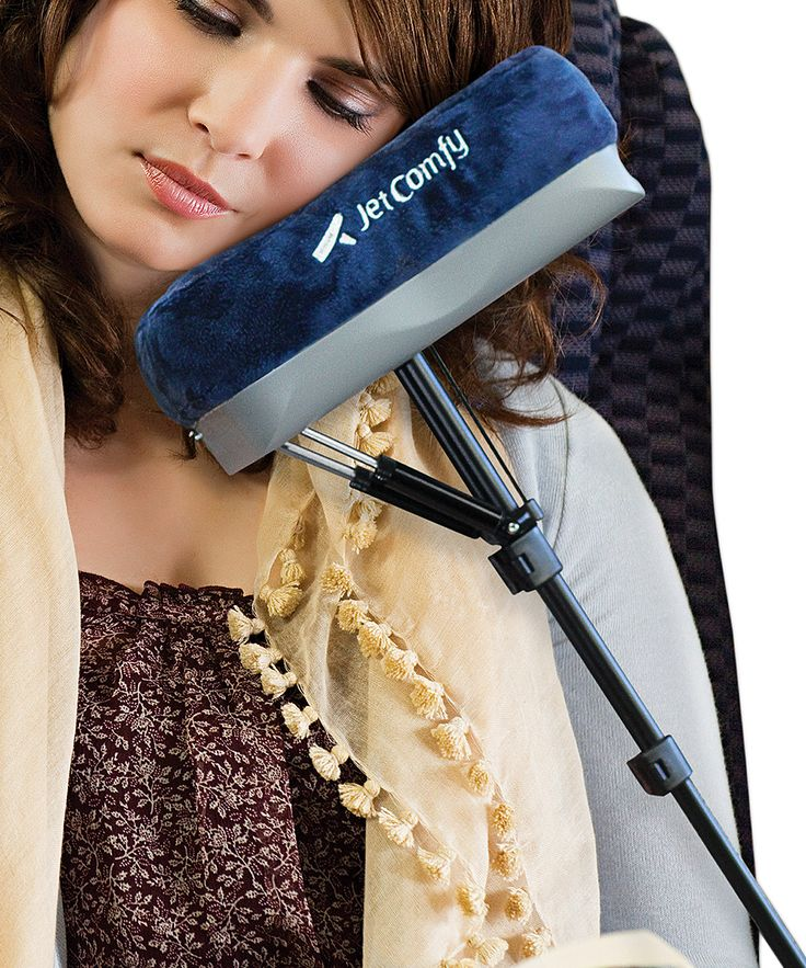 With adjustable height, swivel and tilt, this travel pillow provides custom comfort for weary travelers. A handy strap attaches to armrests to keep this piece secure. 10'' W x 4'' H x 5'' D19 oz.Polyester / ABS / aluminumCover: machine washImported