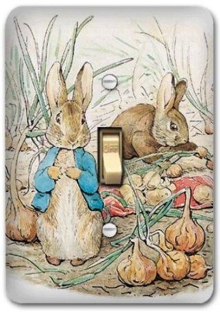 Amazon.com: Peter Rabbit Metal Light Switch Plate Cover Bunny Nursery Home Decor 623: Home & Kitchen