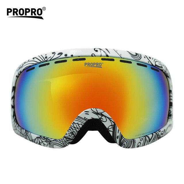 NEW Prevent mist Snow mirror UV400 Carry myopia glasses Outdoor equipment ski goggles Double anti-fog Mountain climbing glasses