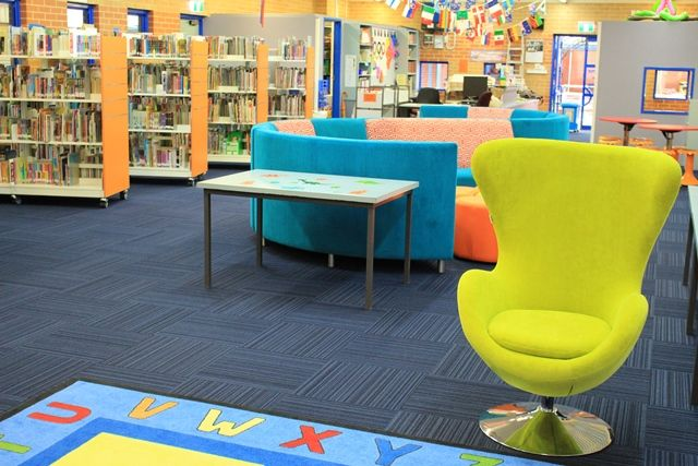 What a difference great seating and colours make to your library space