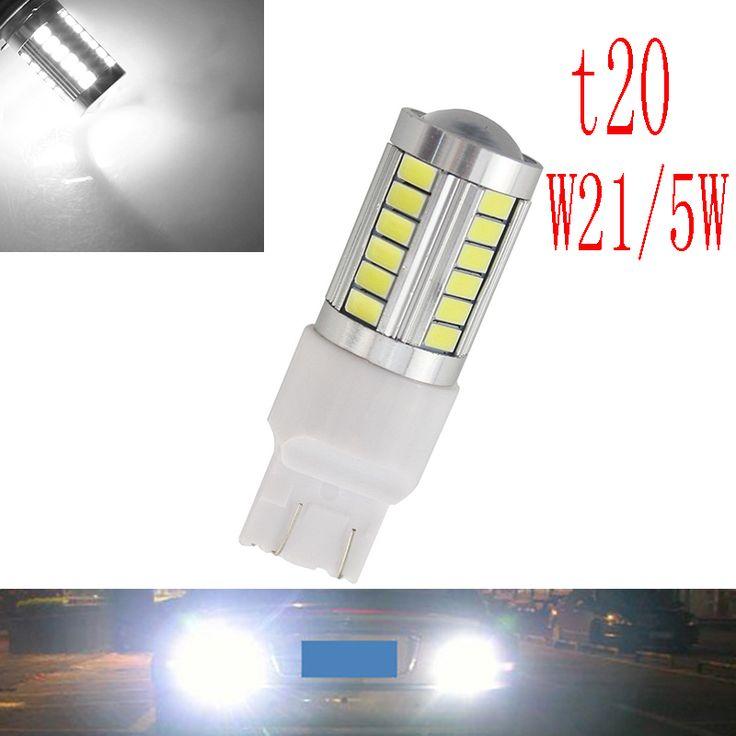 2 xCar led T20 7443 W21/5 W 33 LED 5630 smd 5730 auto luces de freno luz antiniebla luz de marcha atrás luces de circulación diurna del coche rojo blanco