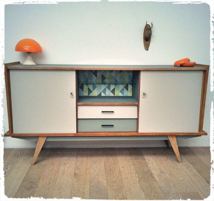 enfilade vintage pieds compas ann es 50 oompa meubles et d coration vintage scandinave. Black Bedroom Furniture Sets. Home Design Ideas