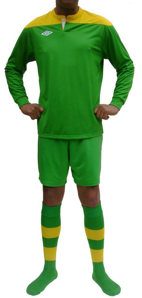 15 x Umbro Mens Football Team Kits Green & Yellow Long Sleeved (M-XL)  #Umbro