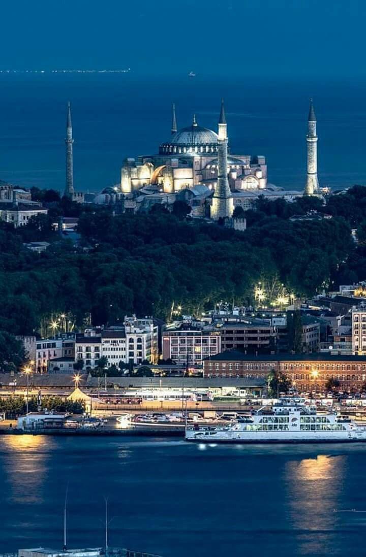 Istanbul, Turkey at night