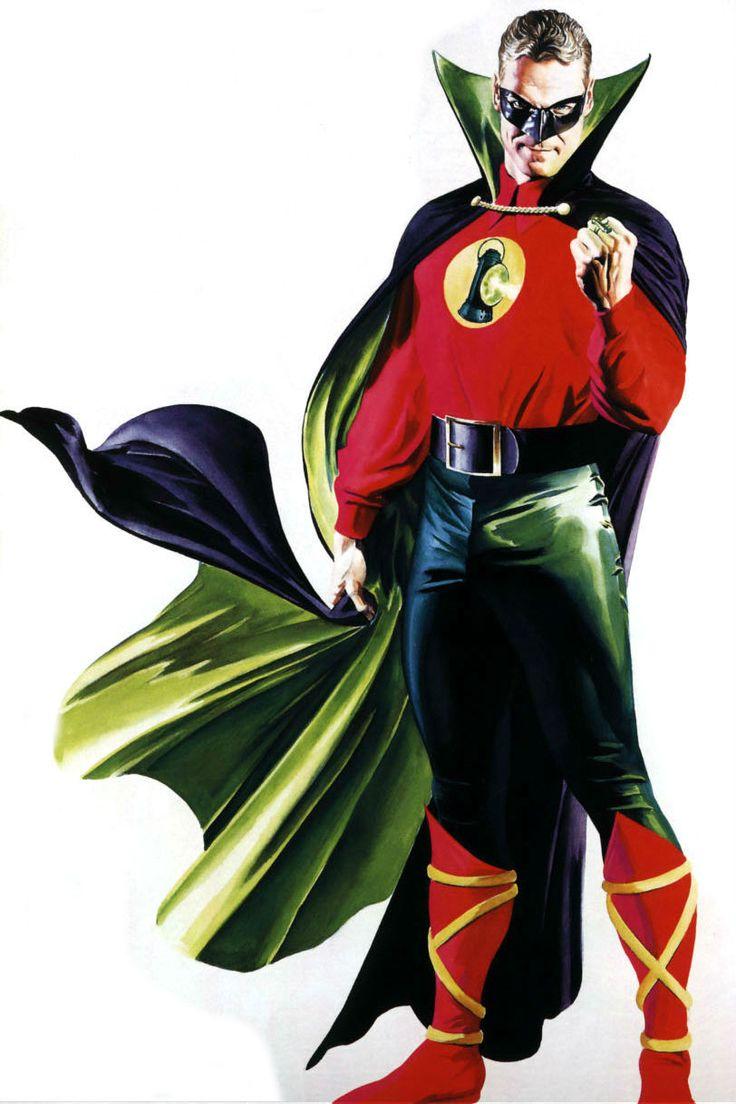 Green Lantern Alan Scott by Alex Ross one of the greatest comic artist of the century