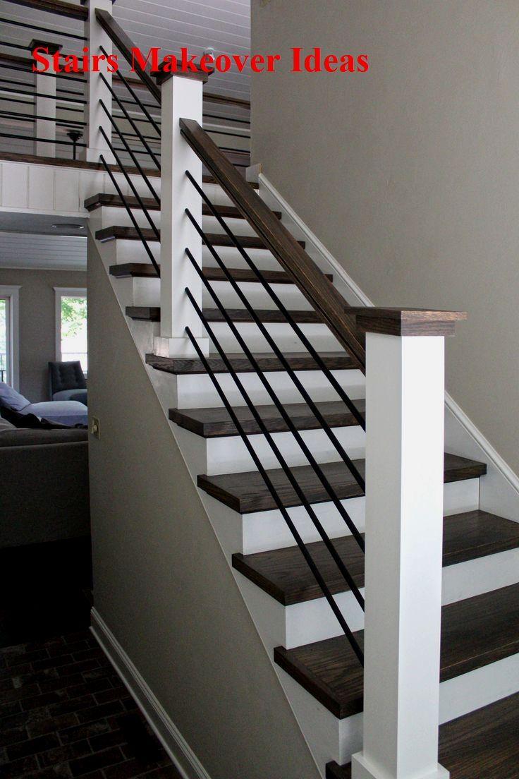 20 Great DIY Stairs Renovation Ideas   Interior stair railing ...