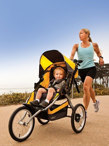 how to run with a stroller - glad to know I am doing it correctly =)