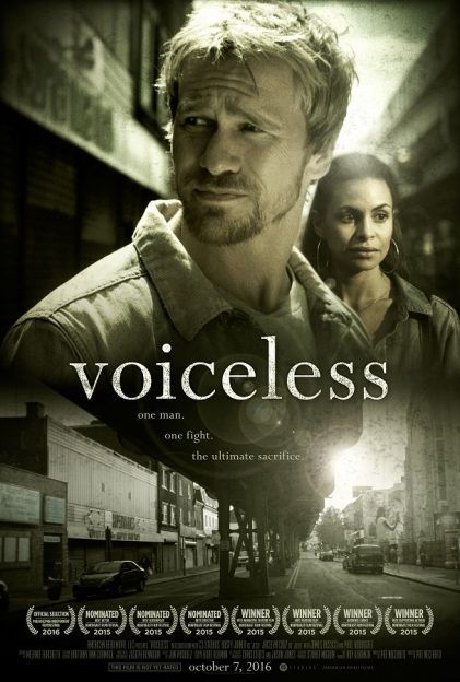 """""""Voiceless"""" is a new film drama that follows Jesse Dean (played by Rusty Joiner), a discharged soldier who discovers an abortion clinic operating right across the street from his Philadelphia church. Jesse struggles to motivate his church to get involved in protecting unborn babies,"""