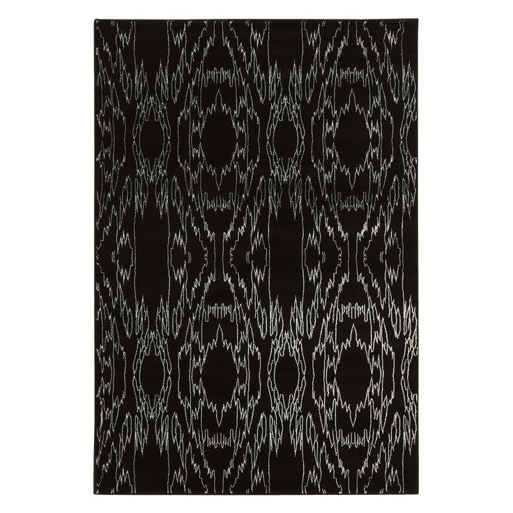 Linon Electric Black 5 x 8 ft. Indoor Area Rug - RUGPA0158