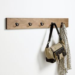 Patère en pin 5 crochets, Hiba La Redoute Interieurs - Porte-manteau, patère