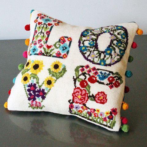 Love Floral Cross Stitch Kit