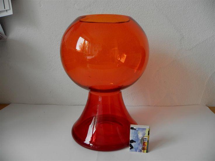 WMF Vase Cari Zalloni 1972 orange-rot   eBay