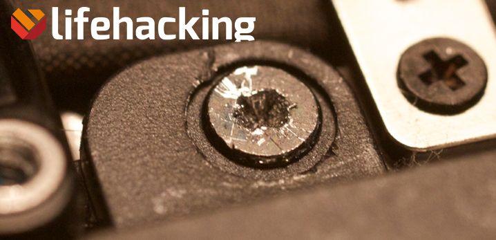 Zo verwijder je een doorgedraaide schroef - Lifehacking