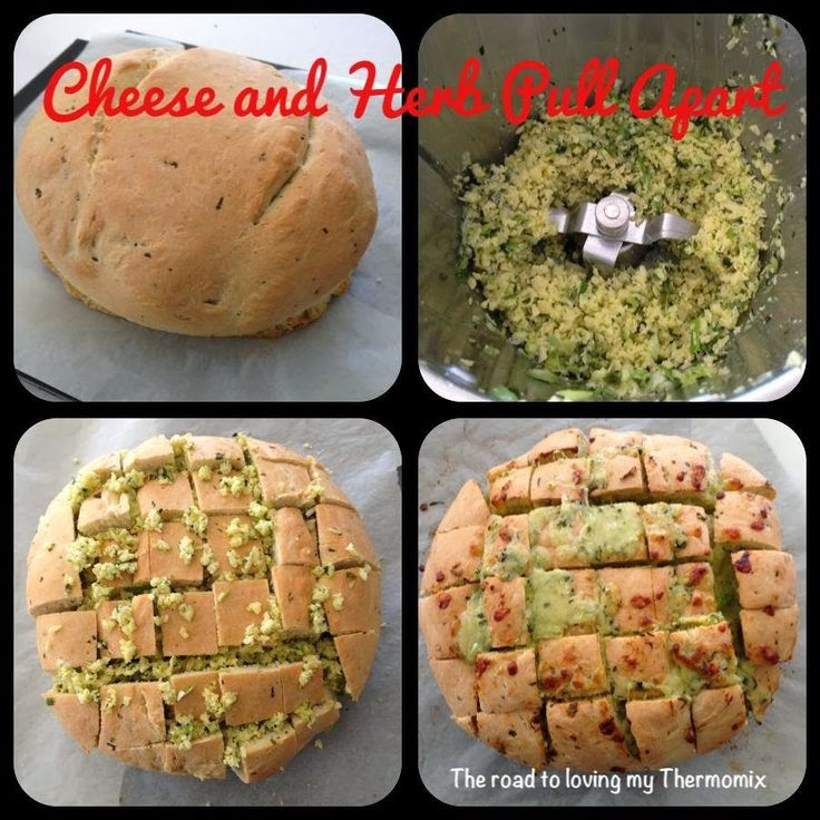 The road to loving my Thermomix: Cheese and Herb Pull Apart